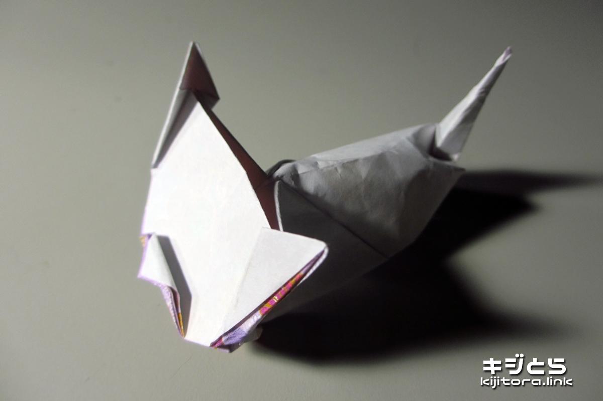 2016-07-12 猫の折り紙折ってみたよ