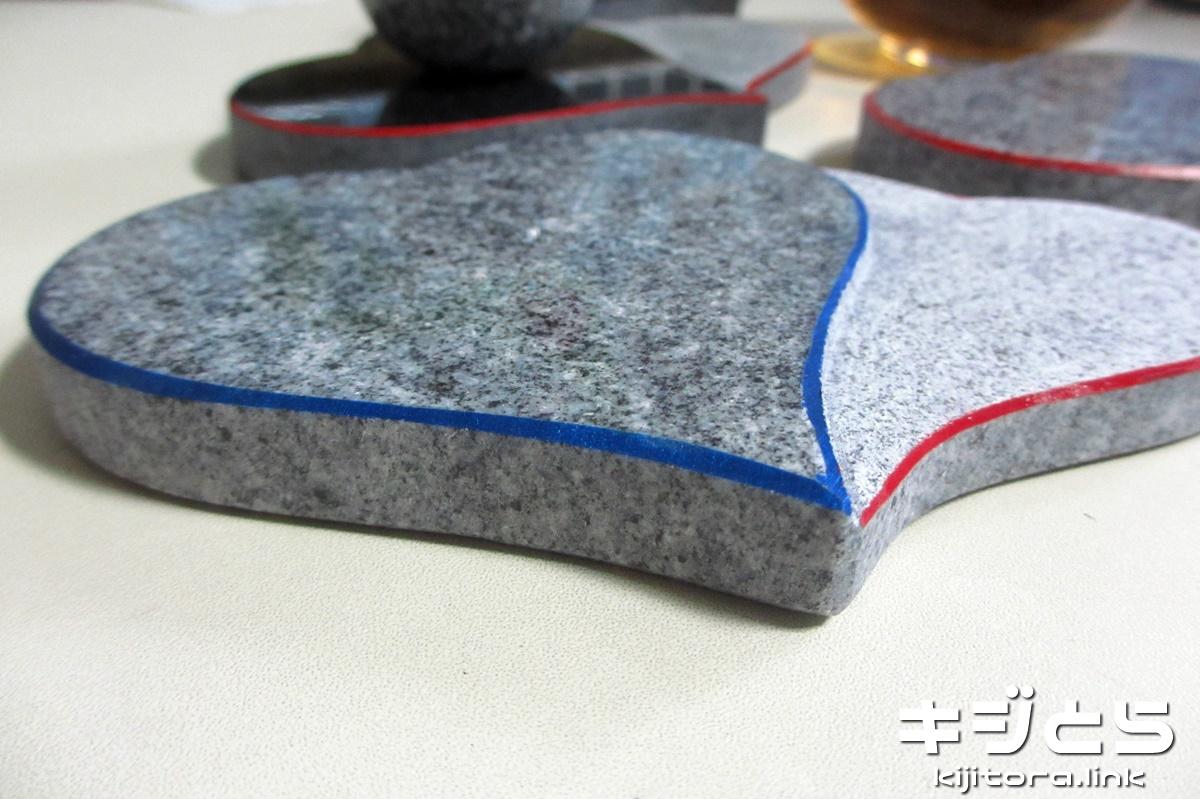 庵治石製ハート形コースター
