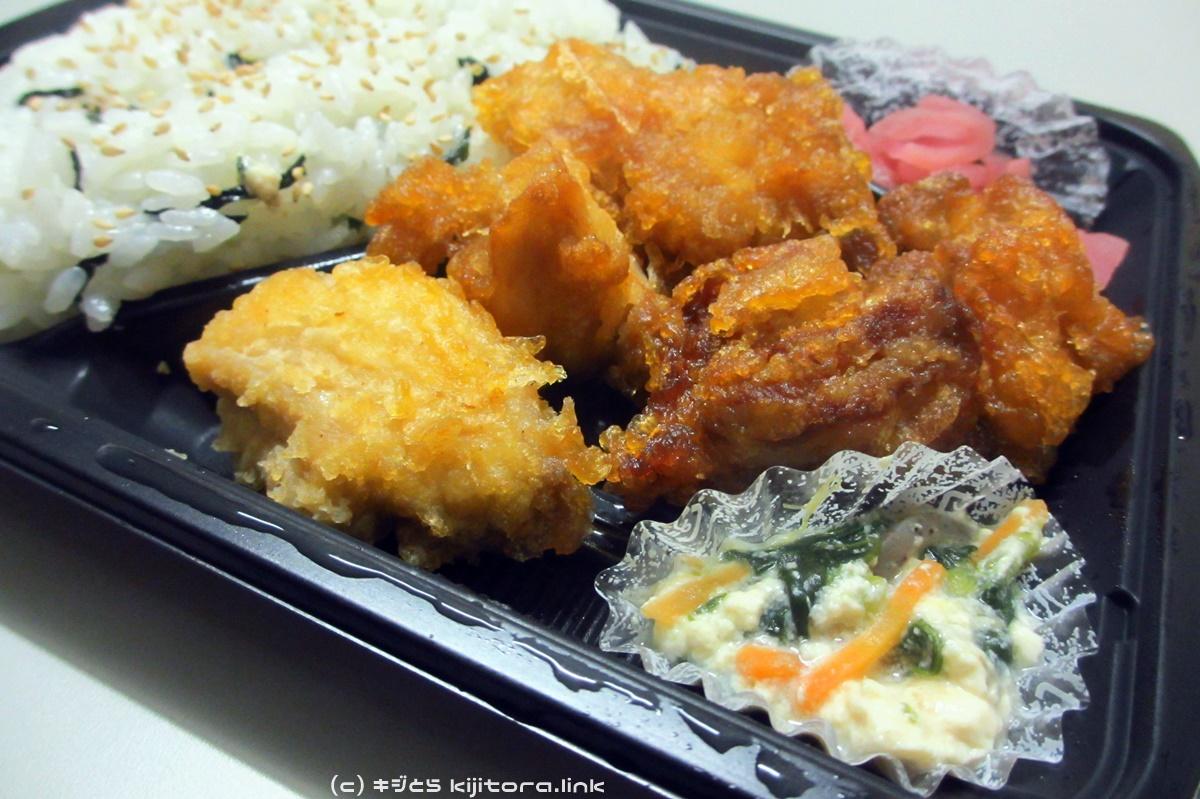 2016_08_08 ファミマ おろしタツタ弁当(かぼすぽん酢)(4)