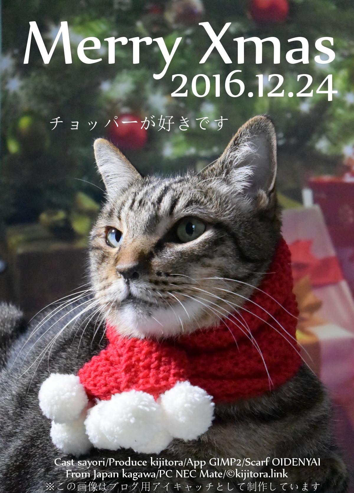 猫用クリスマスのスカーフ