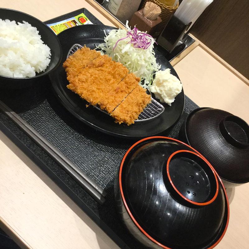 松のや「得朝ロースカツ定食」