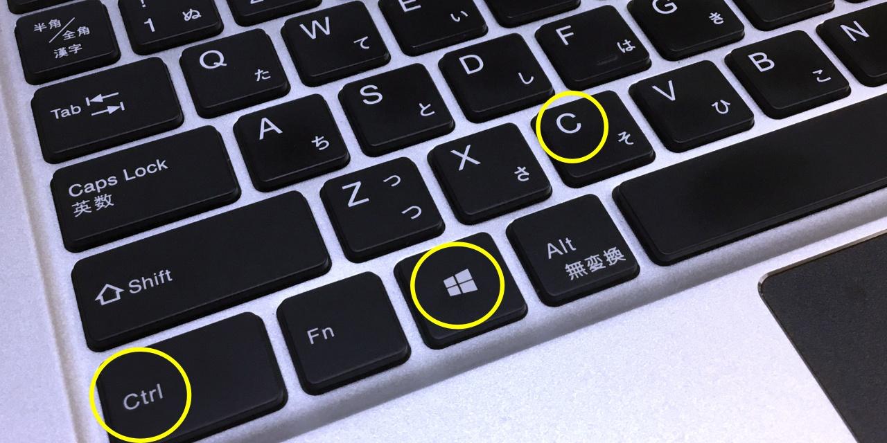 Windows10 ディスプレイモノクロ表示方法