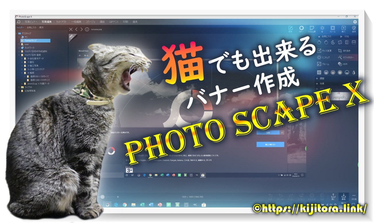 PhotoScape Xでバナー作成(猫でも出来る編)