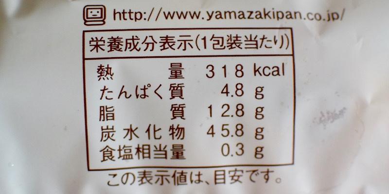 ヤマザキ2色メロネのカロリー