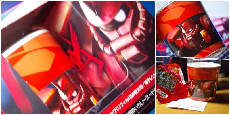 「カップヌードル シャア専用ガラスカップ 赤いカレーヌードルリフィル(詰め替え用)」2品 (10月26日数量限定発売)2009(平成21年)