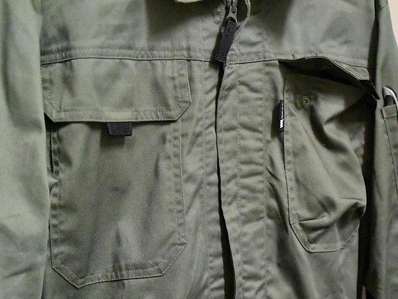 ワークマン 綿混腰伸びツナギ(品番WM3406)ポケット